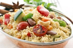 couscous--zucchini-salat